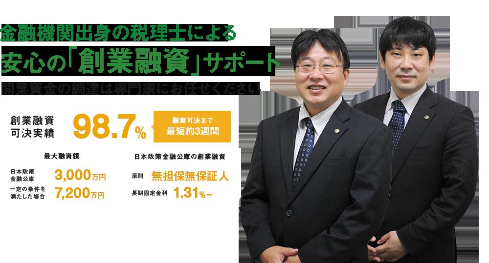 金融機関出身の税理士による安心の「創業融資」サポート